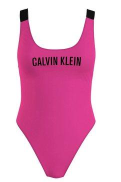 calvin klein badpak met zeer hoge beenlijn roze