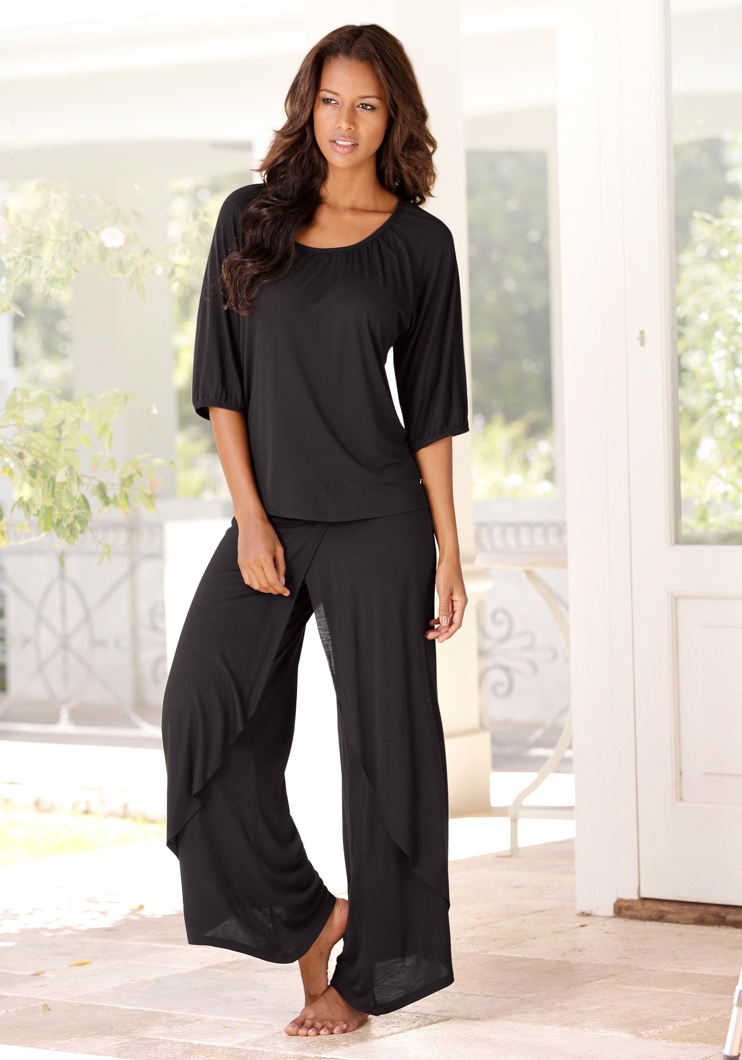 Lascana Pyjama in chique layer-look bij Lascana online kopen