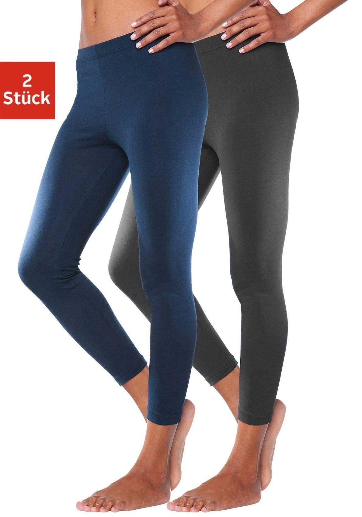 vivance active legging met elastische band (Set van 2) voordelig en veilig online kopen