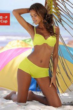 buffalo bikinitop met beugels happy opzij aan te rimpelen geel