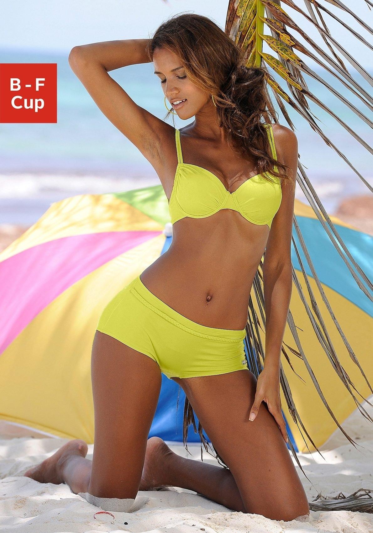Buffalo bikinitop met beugels Happy opzij aan te rimpelen in de webshop van Lascana kopen