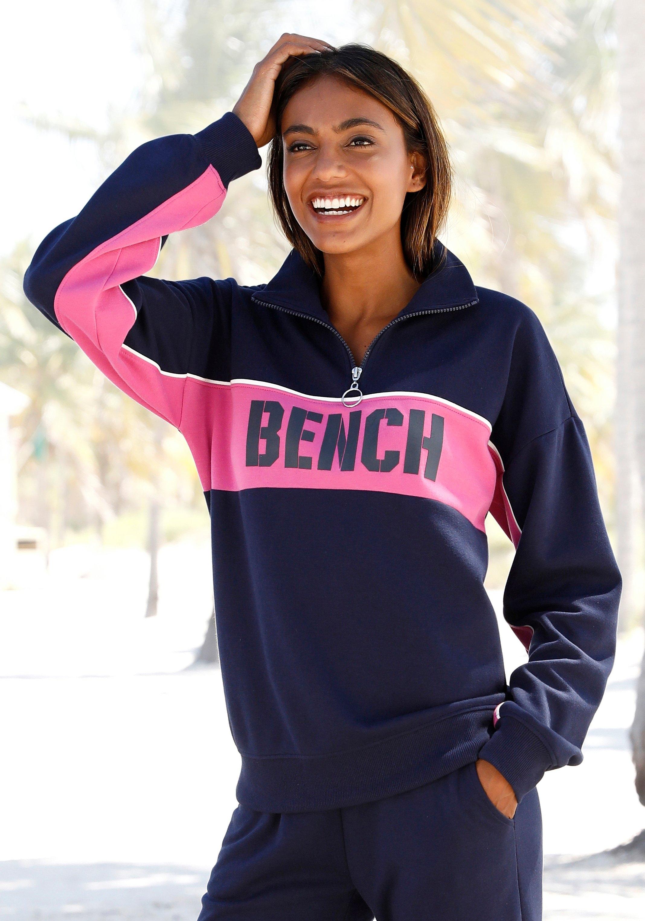Bench. sweatshirt Contrast in colourblocking design met logoprint nu online bestellen