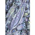 lascana maxi-jurk met paisleyprint blauw