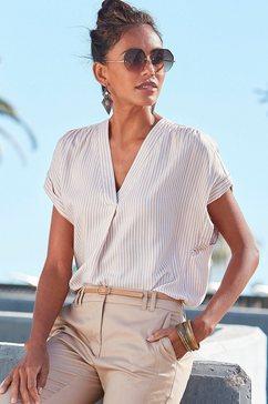 vivance blouse met korte mouwen wit