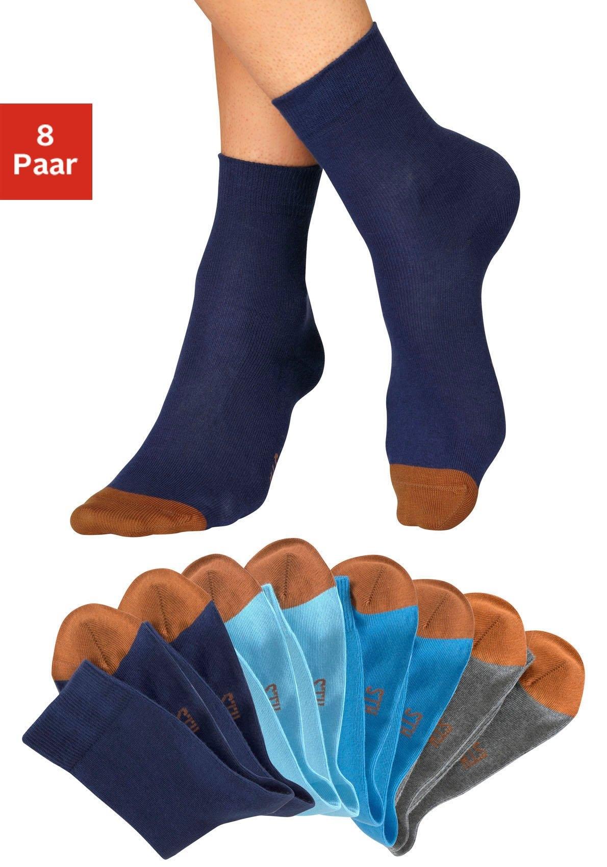 H.I.S sokken met contrastkleurige kant (8 paar) veilig op lascana.nl kopen