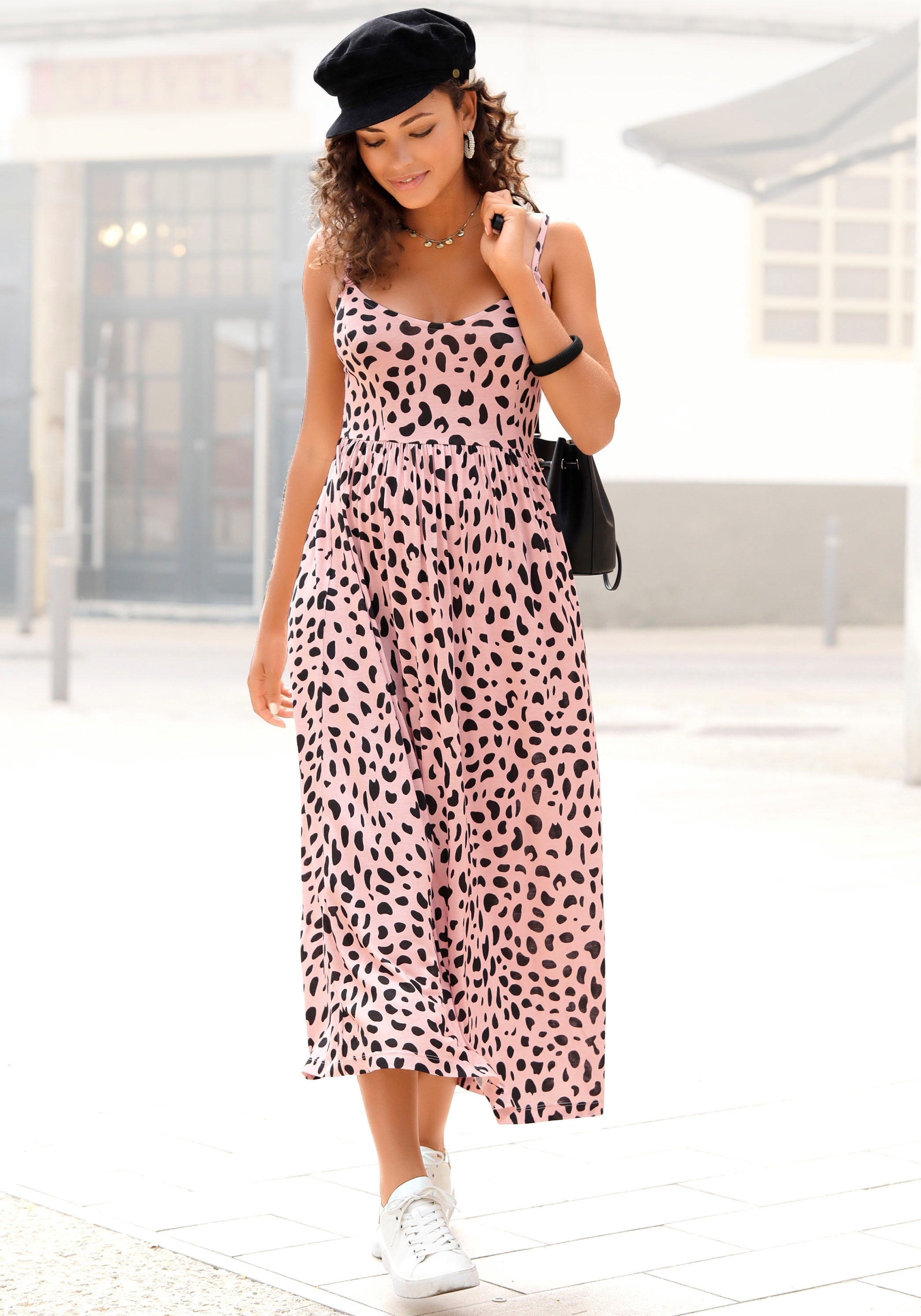 Op zoek naar een Buffalo Midi-jurk met stippenprint? Koop online bij Lascana