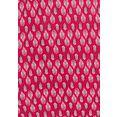 lascana shirt met 3-4-mouwen met modieuze all-over print (set van 2) rood