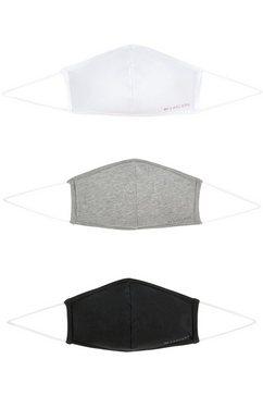 lascana mondkapjes (set, 3-delig) zwart