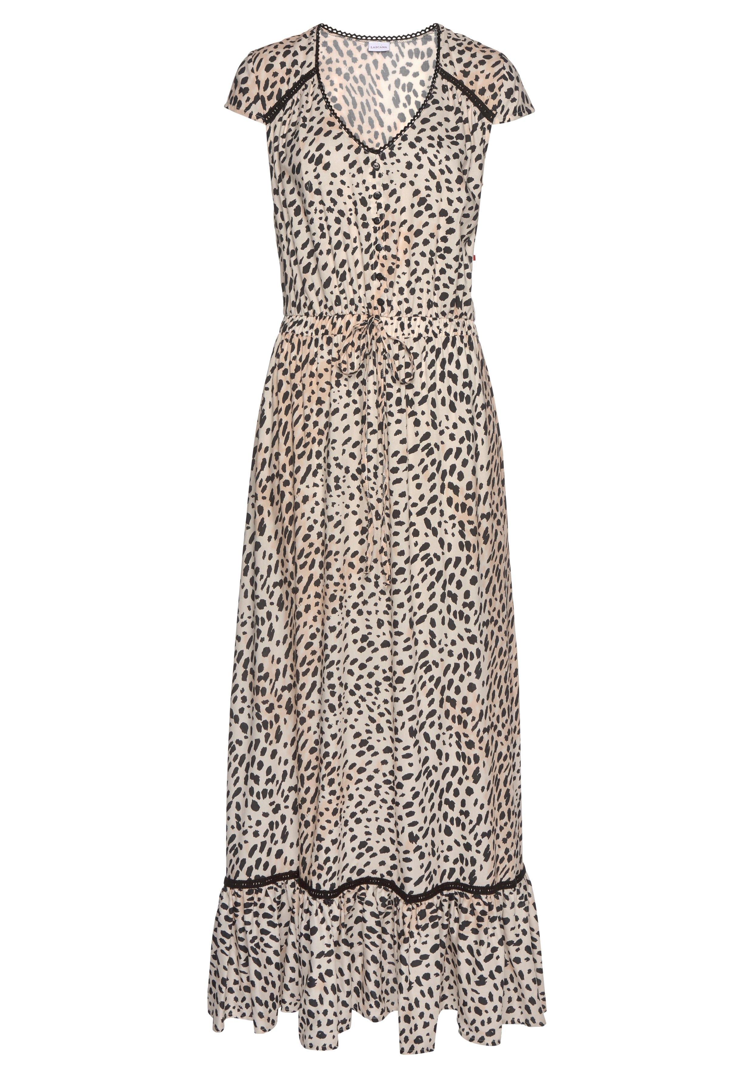 Lascana maxi-jurk met dierenprint nu online kopen bij Lascana