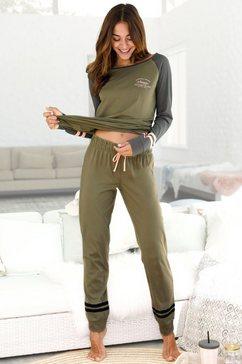 arizona pyjama met raglanmouwen groen