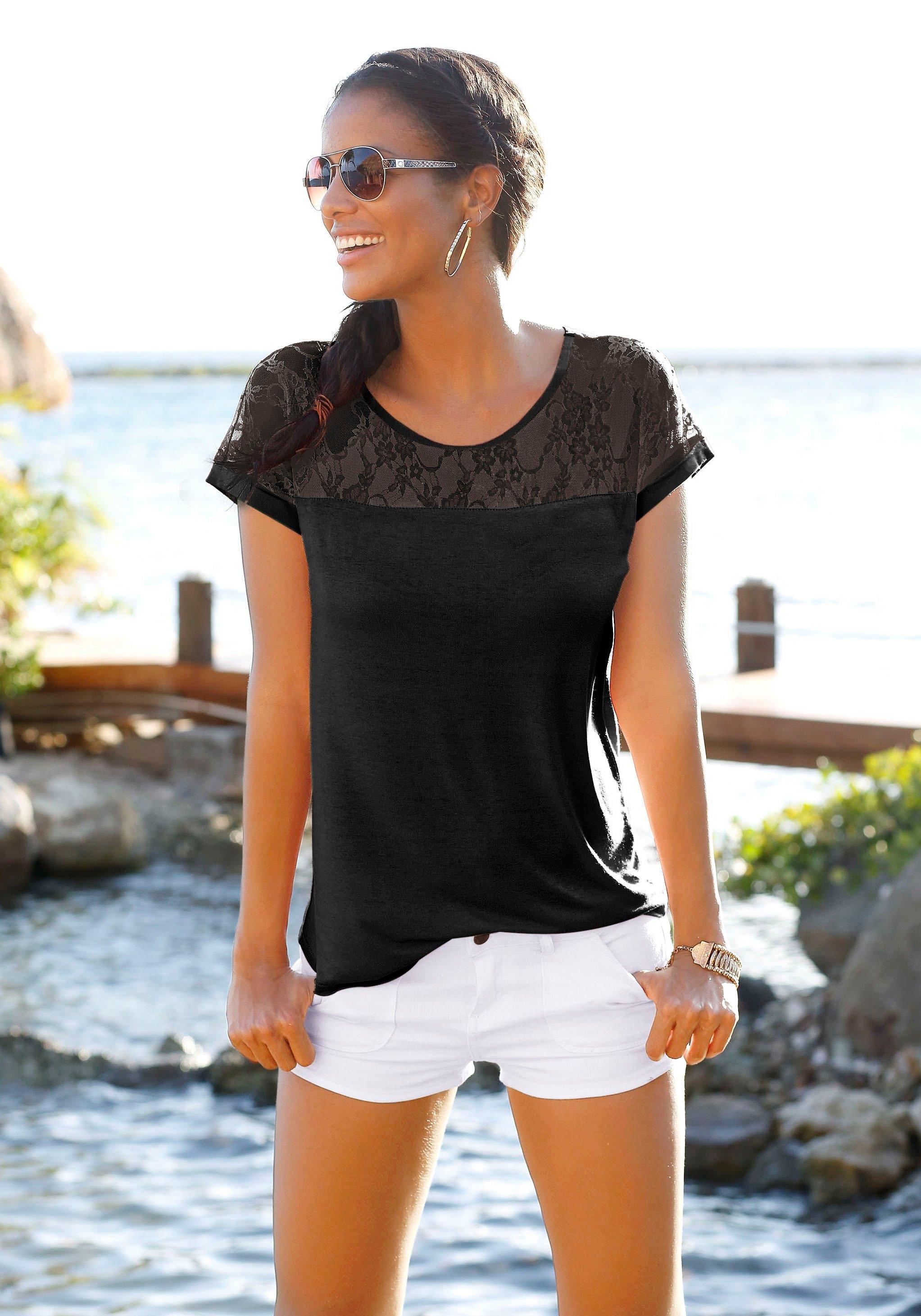 Lascana Strandshirt met inzet bovenaan - verschillende betaalmethodes