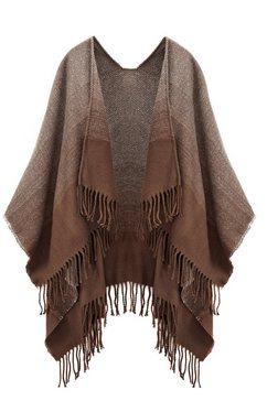 lascana xxl-sjaal poncho in fijne tricotkwaliteit en veelzijdig te dragen bruin