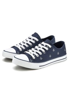 lascana sneakers met ankerprint blauw