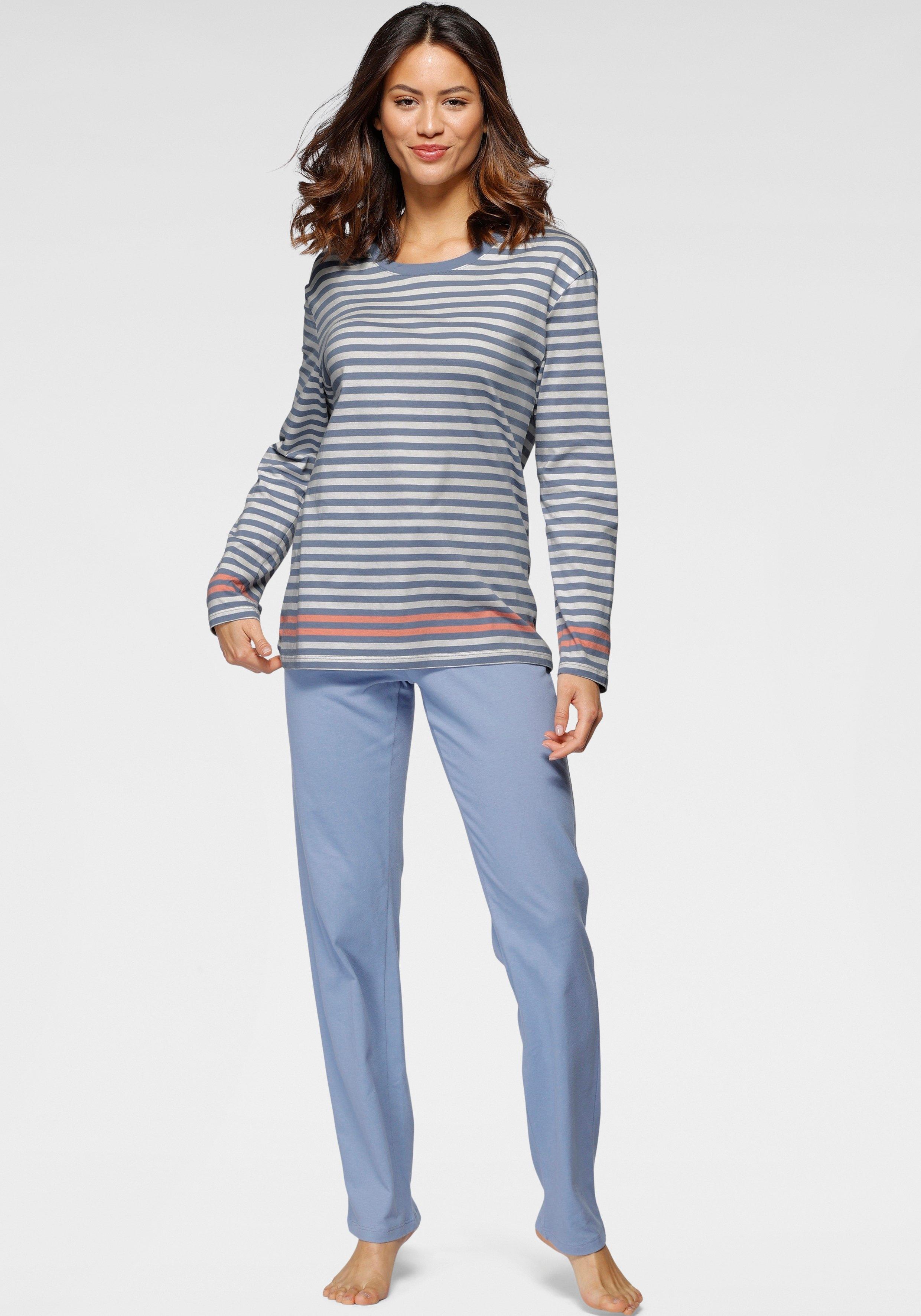 Schiesser Pyjama met streepprint in de webshop van Lascana kopen