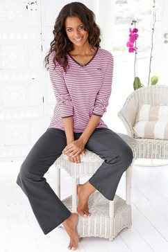 h.i.s pyjama met een iets uitlopende pijp roze