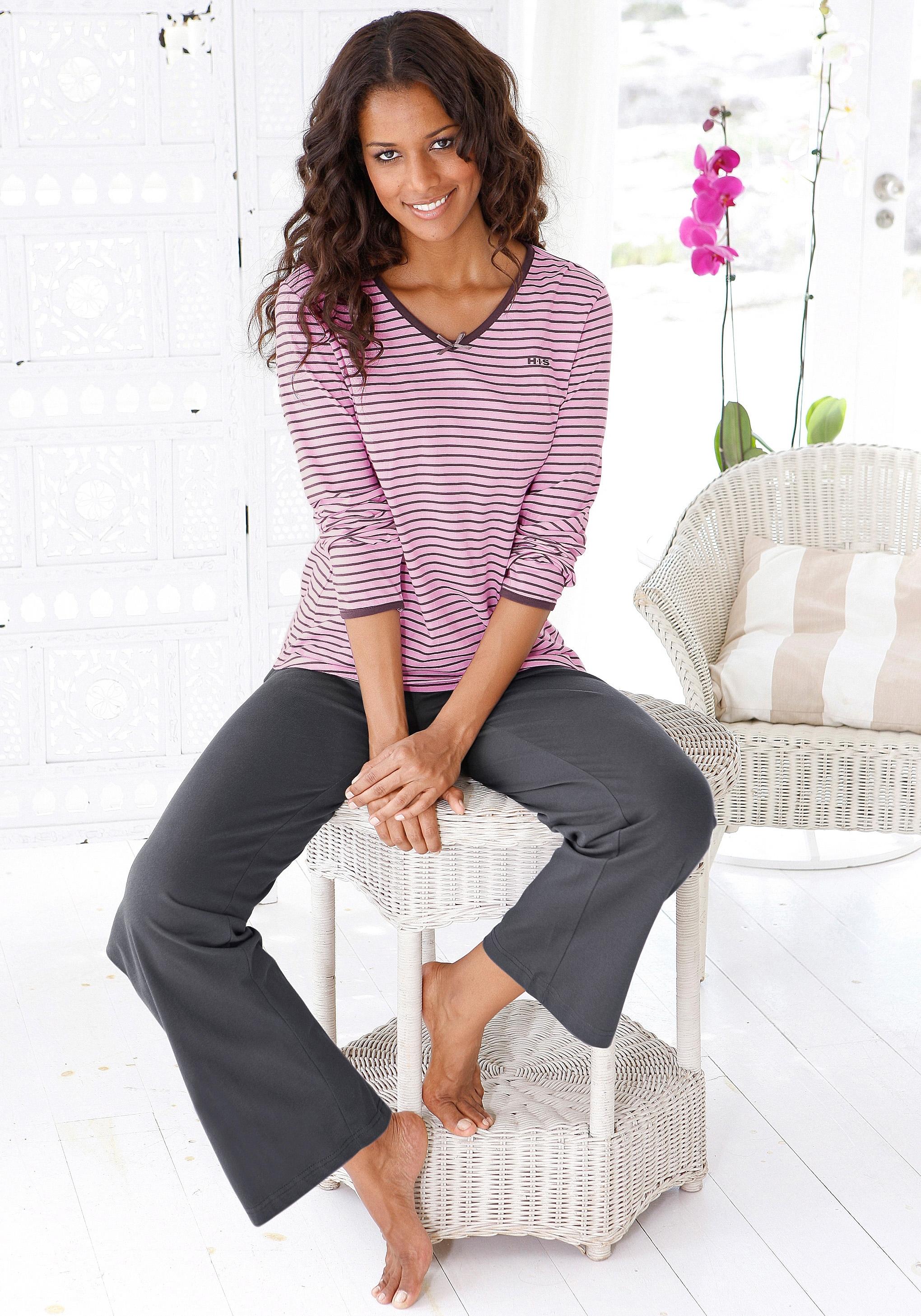H.I.S pyjama met een iets uitlopende pijp nu online bestellen