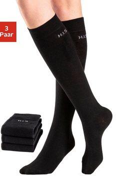 h.i.s kniekousen (3 paar) zwart