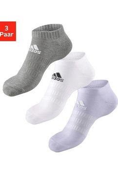 adidas performance sneakersokken performance met klassiek logo-opschrift (3 paar) grijs