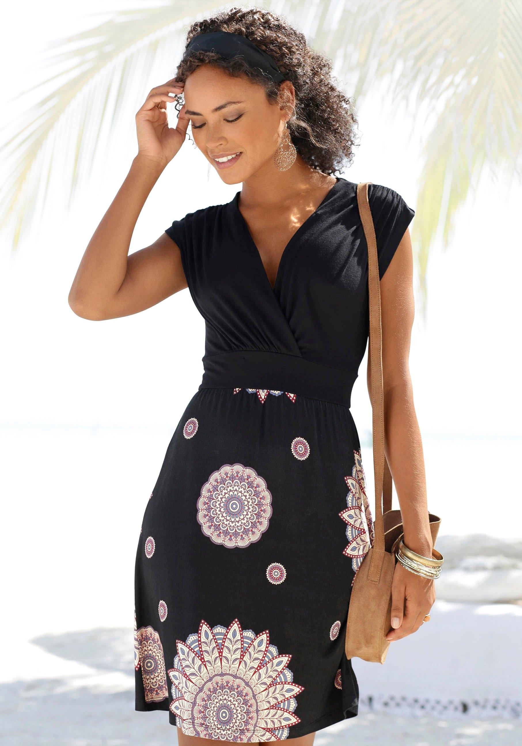 Beachtime zomerjurk met neklijn aan de achterkant in de webshop van Lascana kopen