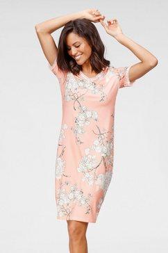 cybèle nachthemd all-over gebloemd roze