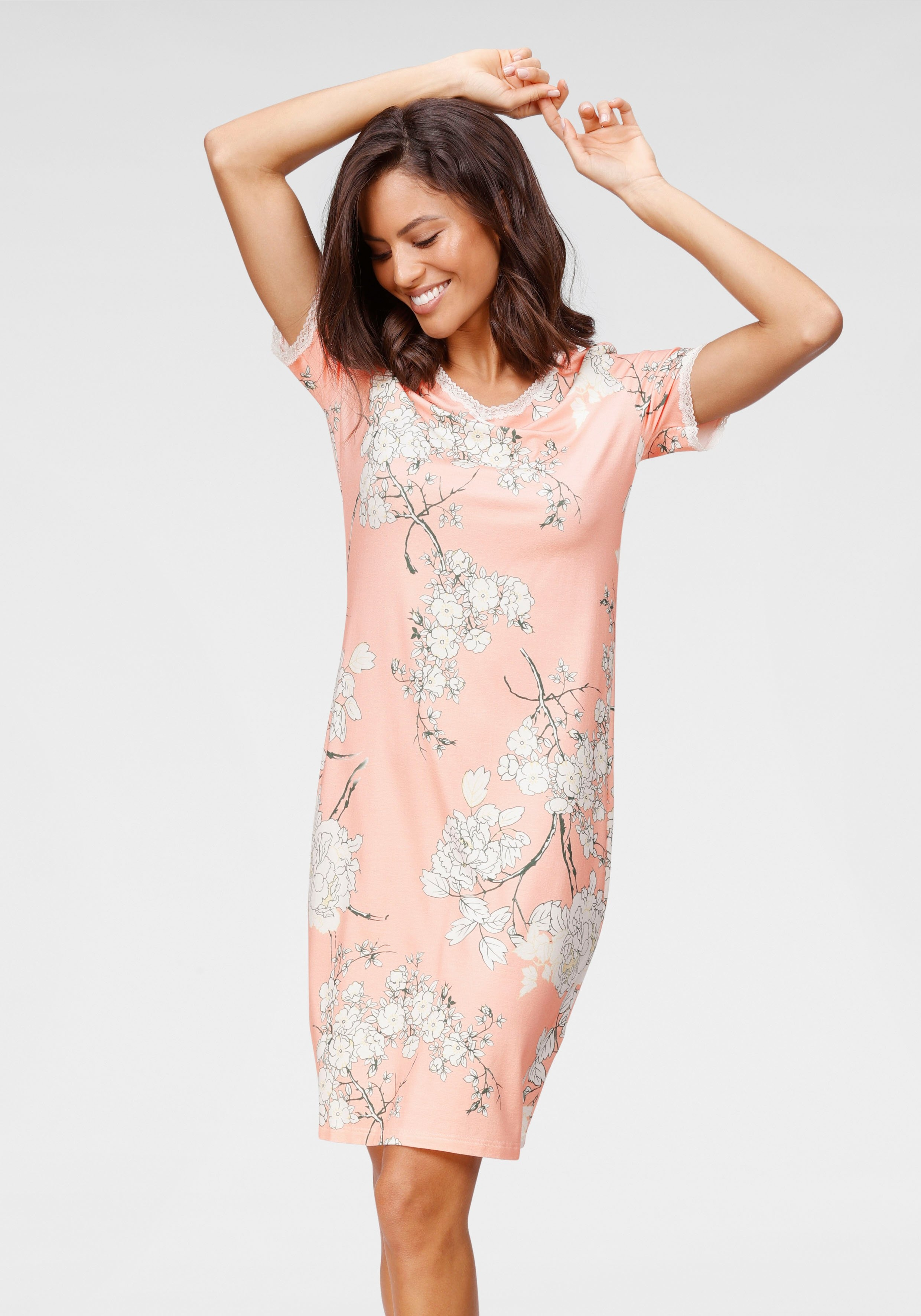 Cybèle nachthemd all-over gebloemd nu online bestellen