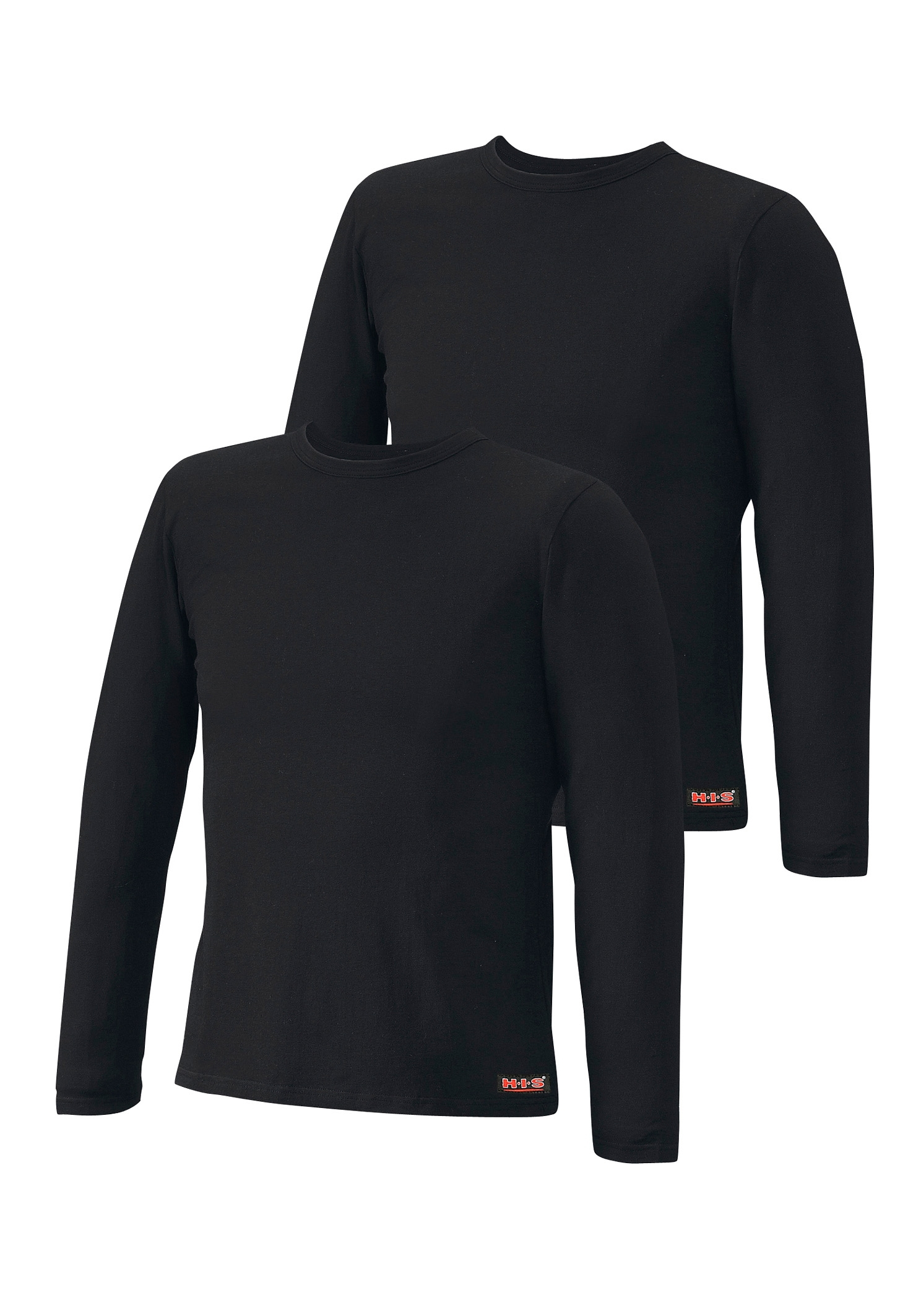 H.I.S shirt met lange mouwen (set van 2) van katoen - gratis ruilen op lascana.nl