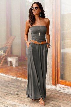 lascana maxi-jurk met smalle top groen