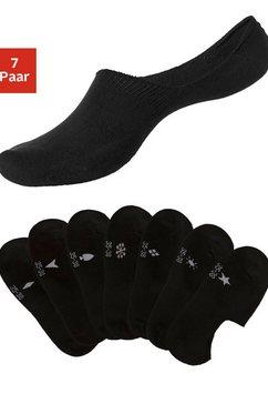 h.i.s sneakersokken met ingebreide symbolen (7 paar) zwart