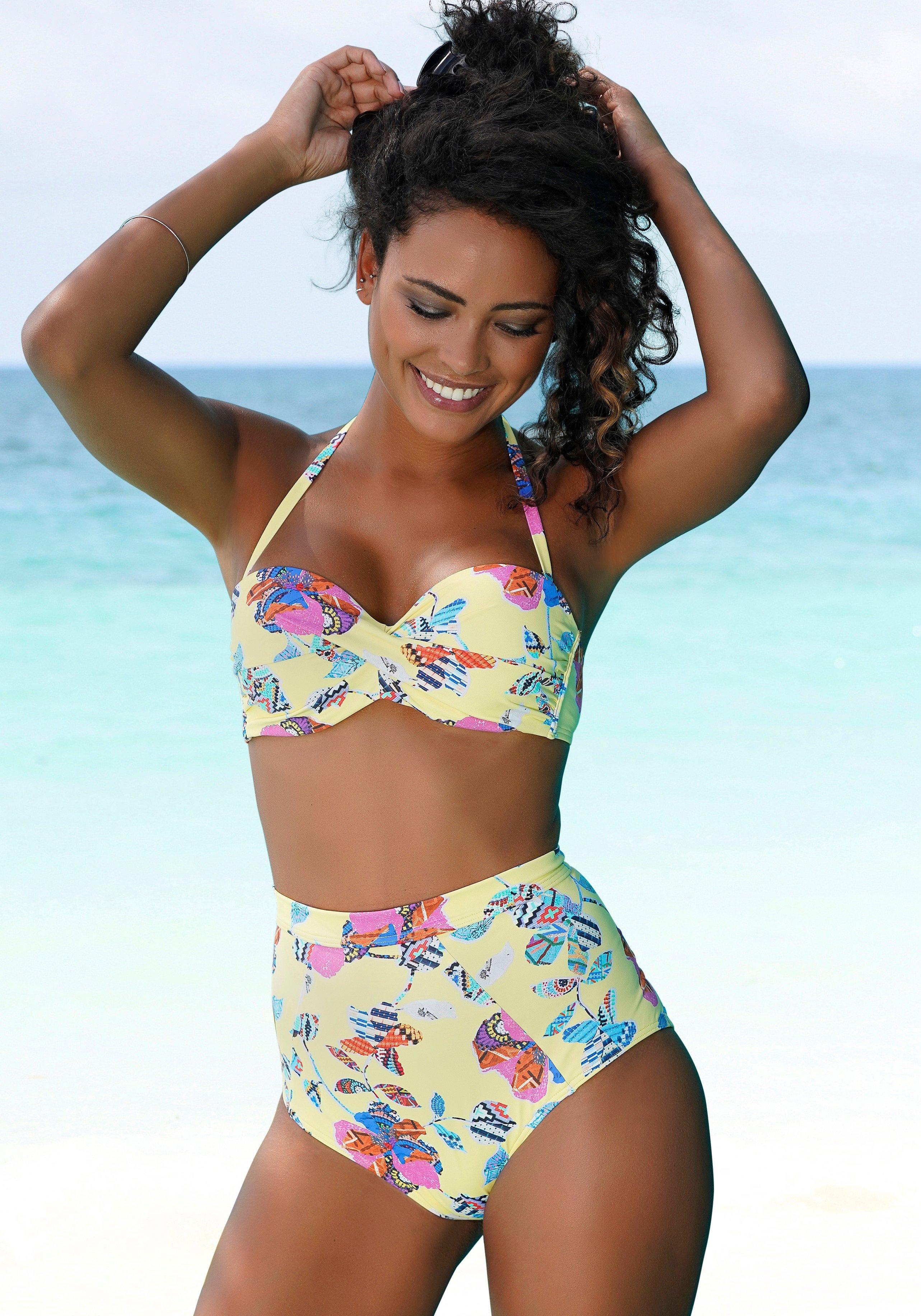 Sunseeker highwaist-bikinibroekje Jam met all-over print bestellen: 30 dagen bedenktijd