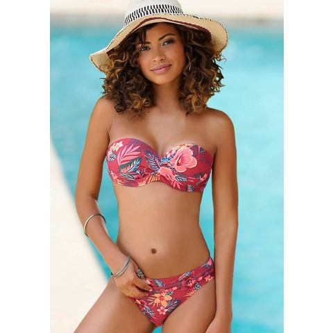 s.Oliver RED LABEL Beachwear beugelbikinitop in bandeaumodel MARIKA in wikkel-look