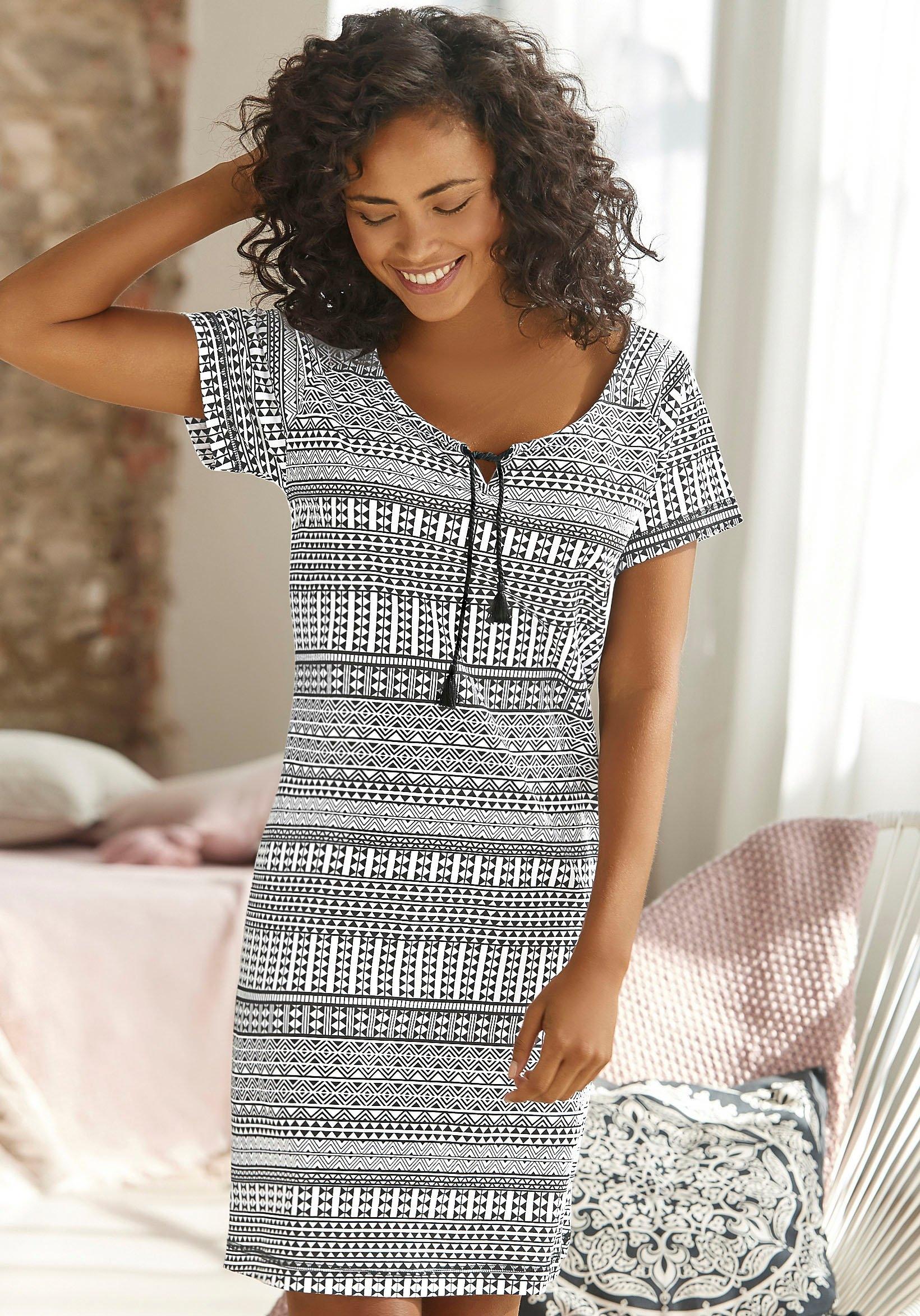 vivance collection nachthemd in de webshop van Lascana kopen
