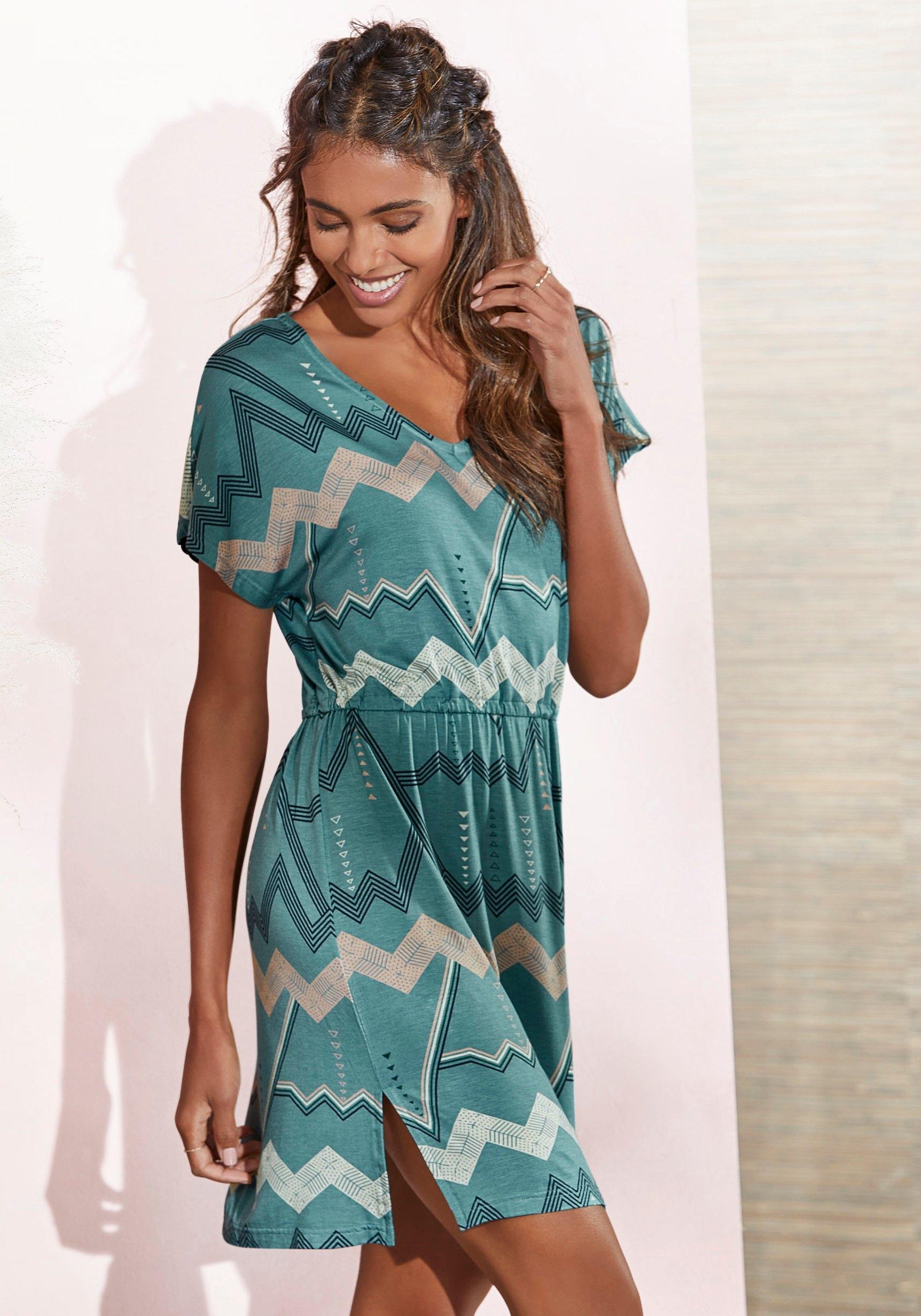 Lascana Nachthemd met grafisch zigzagmotief bij Lascana online kopen