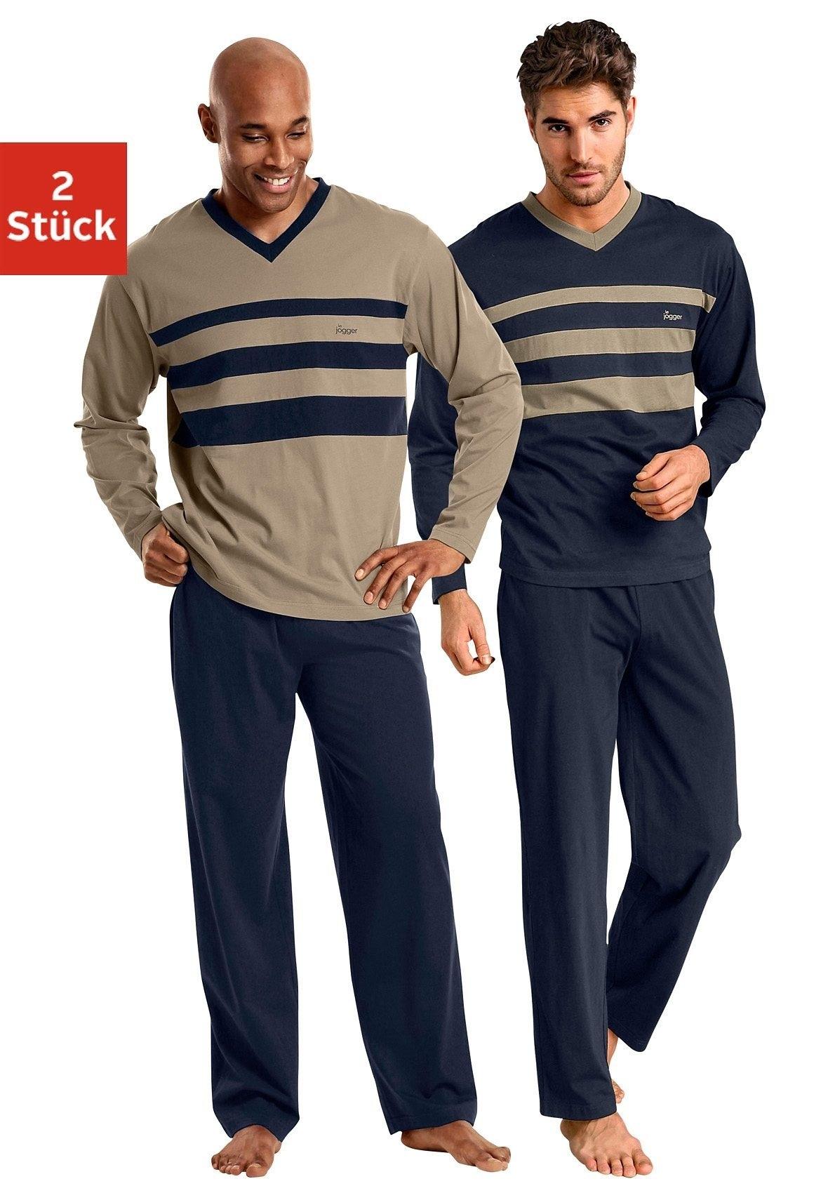 Op zoek naar een le jogger Pyjama met colourblocks (Set van 2)? Koop online bij Lascana