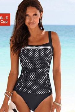 lascana badpak merilyn in een stijlvol design met een modellerend effect zwart
