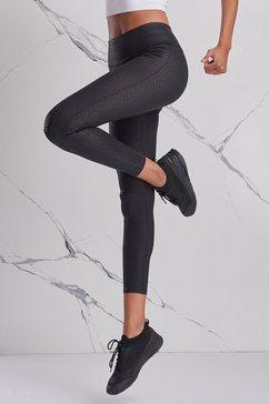 active by lascana legging met ton sur ton slangendessin zwart