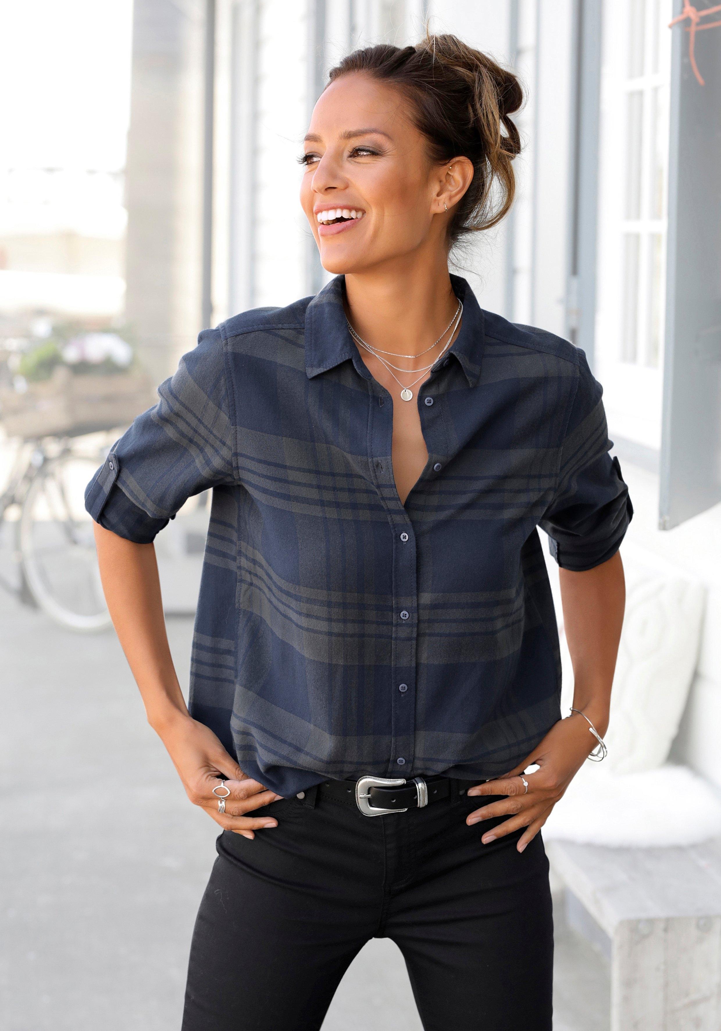 LASCANA flanellen blouse goedkoop op lascana.nl kopen