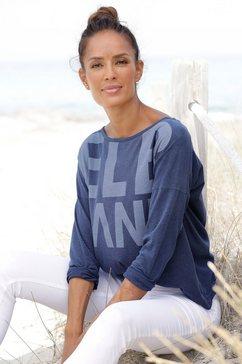 elbsand shirt met lange mouwen niola met grote frontprint blauw
