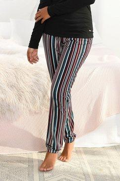 s.oliver red label beachwear pyjamabroek met motief all-over en contrastkleurige koord blauw