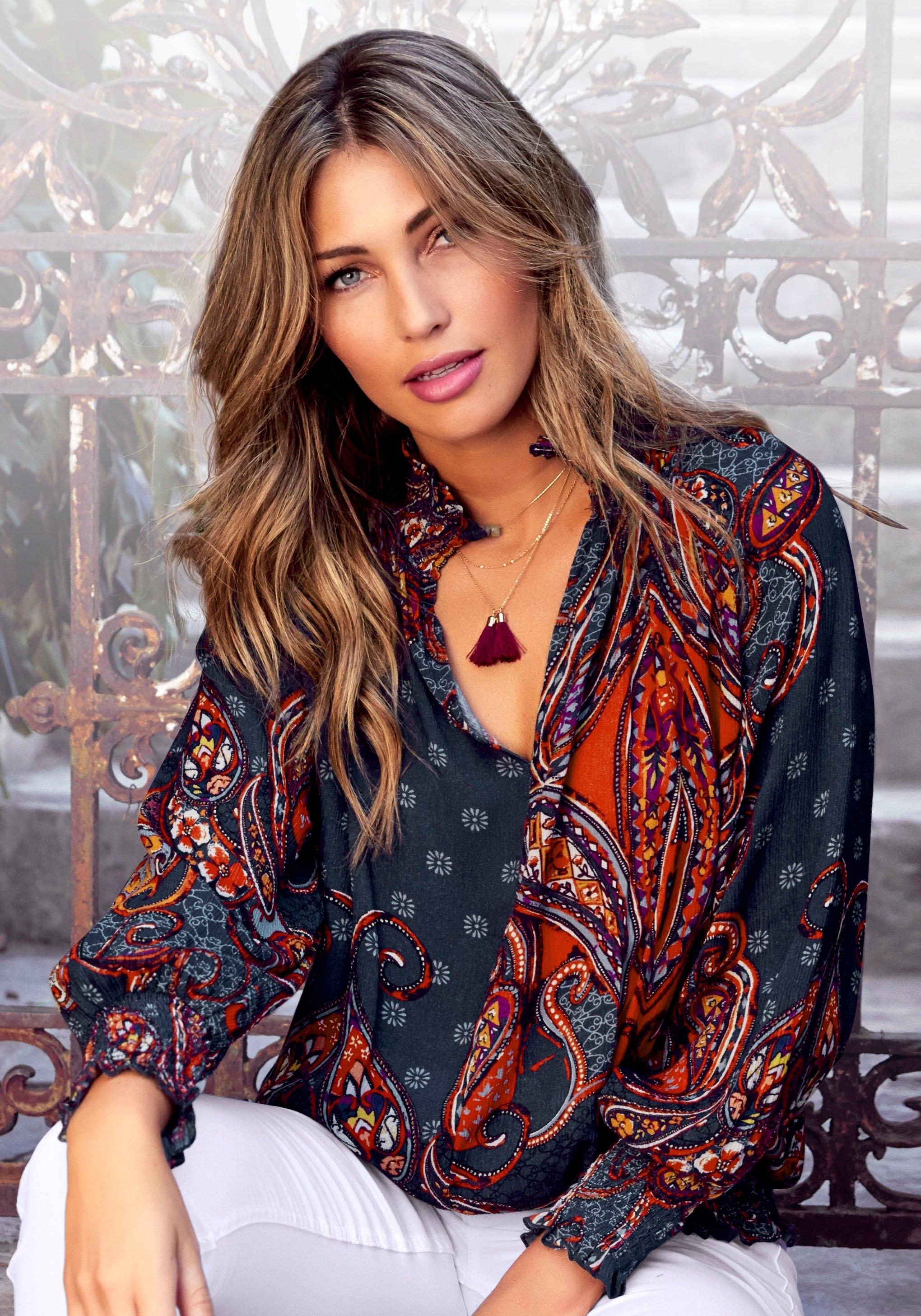 Lascana Gedessineerde blouse met paisleyprint bestellen: 30 dagen bedenktijd