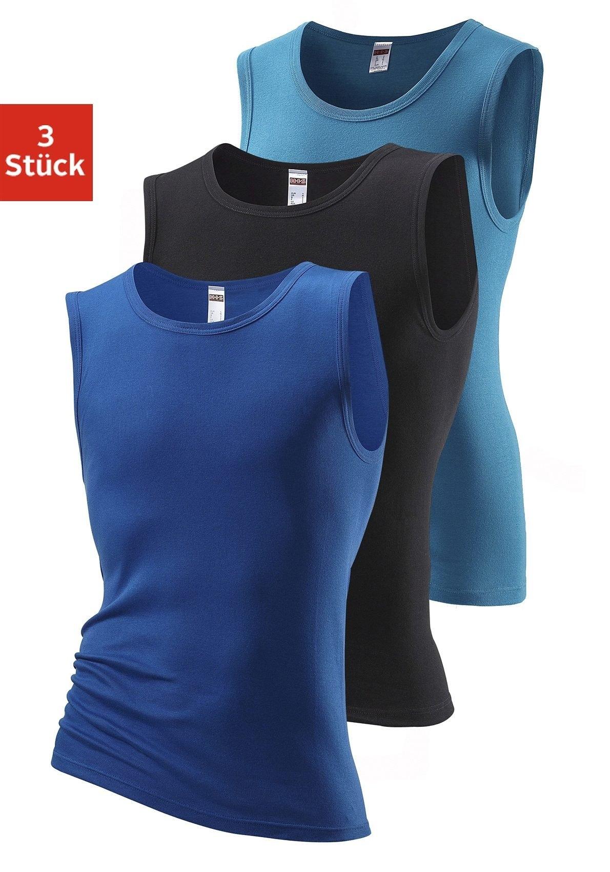 H.I.S muscle-shirt zonder zijnaden optimale pasvorm (Set van 3) veilig op lascana.nl kopen