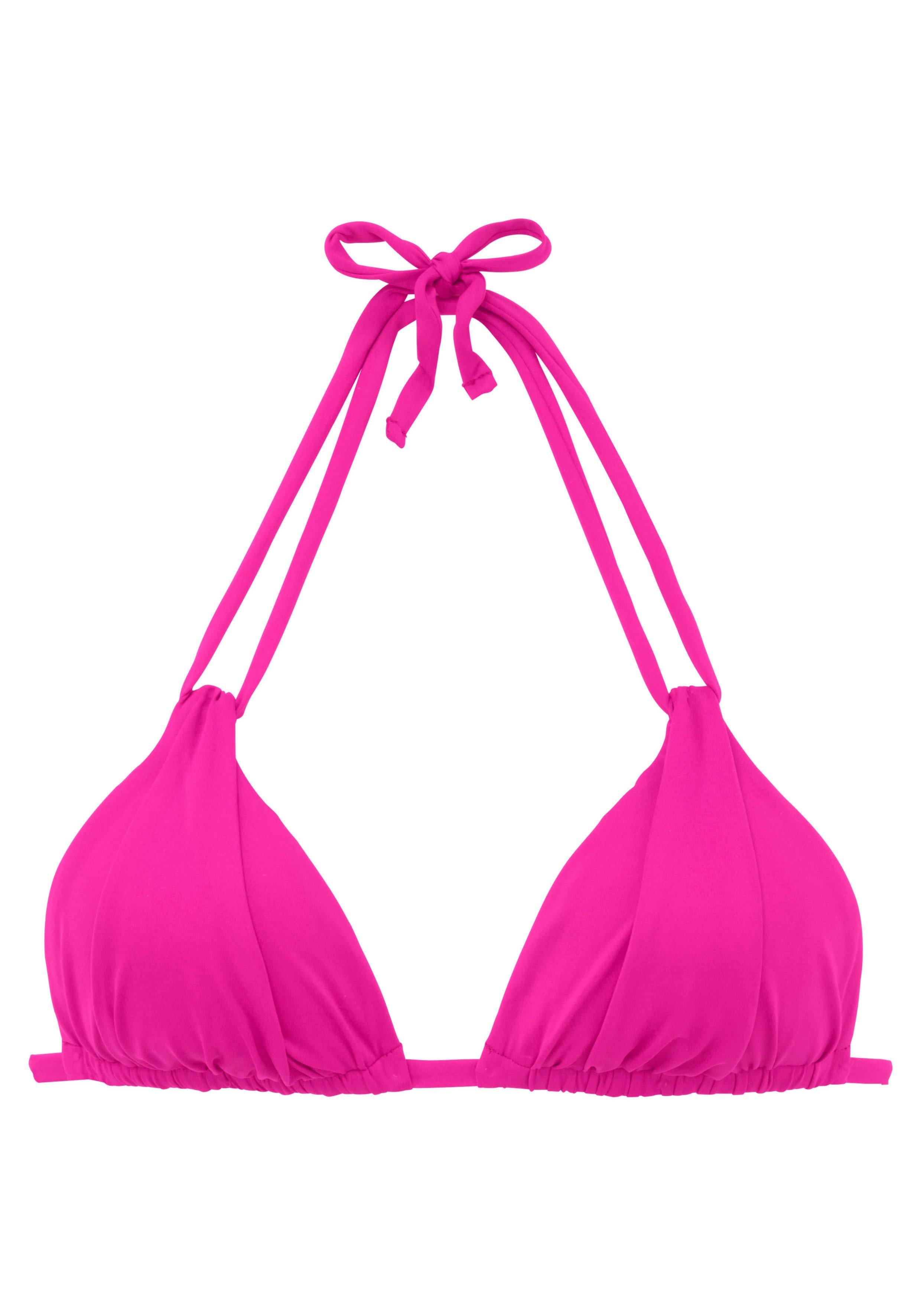 s.Oliver RED LABEL Beachwear Triangel-bikinitop Spain met plooi en dubbele bandjes nu online kopen bij Lascana
