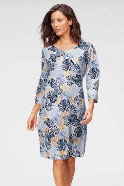 cybèle nachthemd met bladerprint blauw