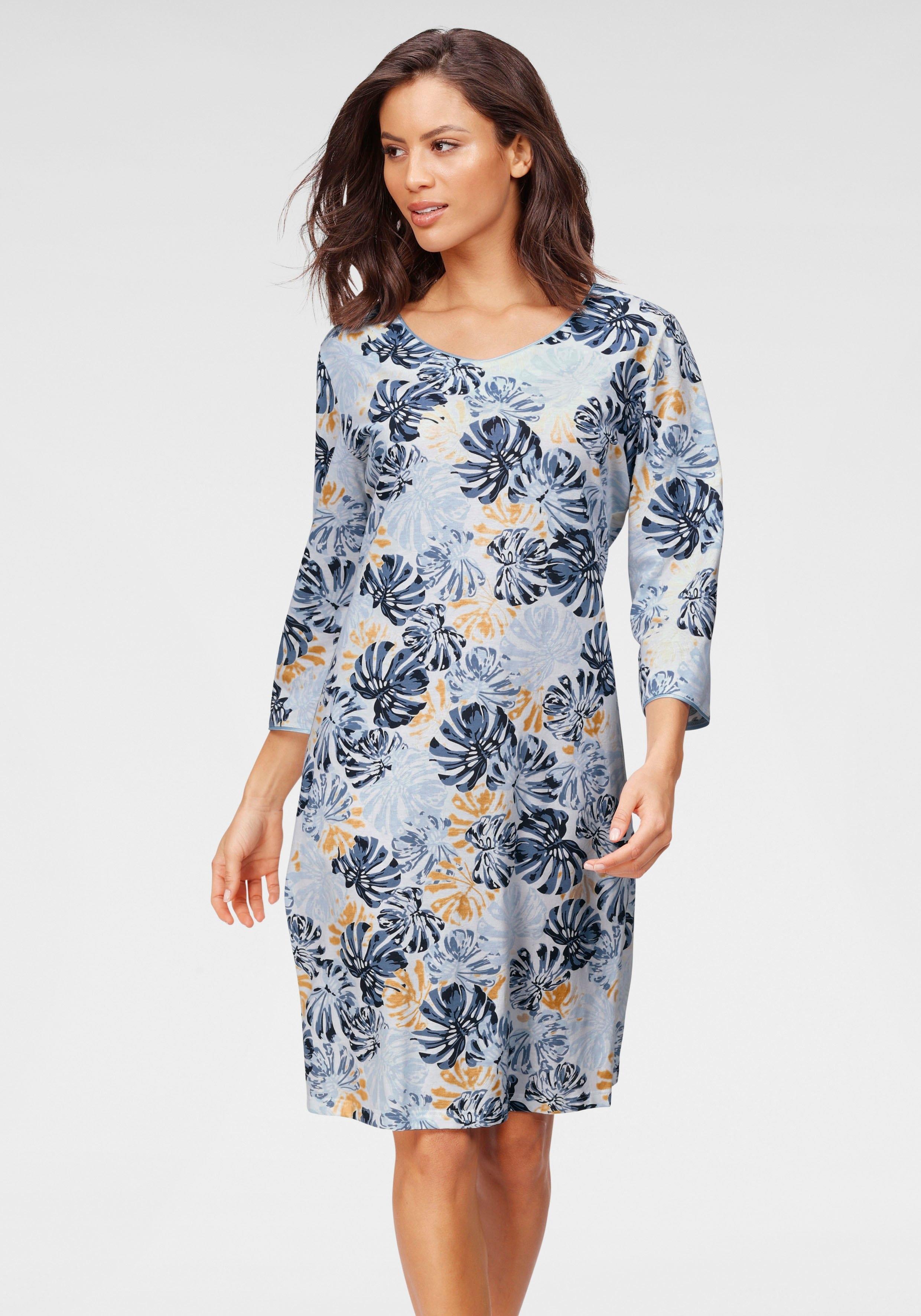 Cybèle nachthemd met bladerprint goedkoop op lascana.nl kopen
