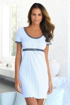 lascana nachthemd met kanten details wit