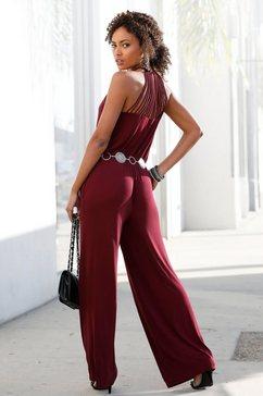 lascana jumpsuit rood