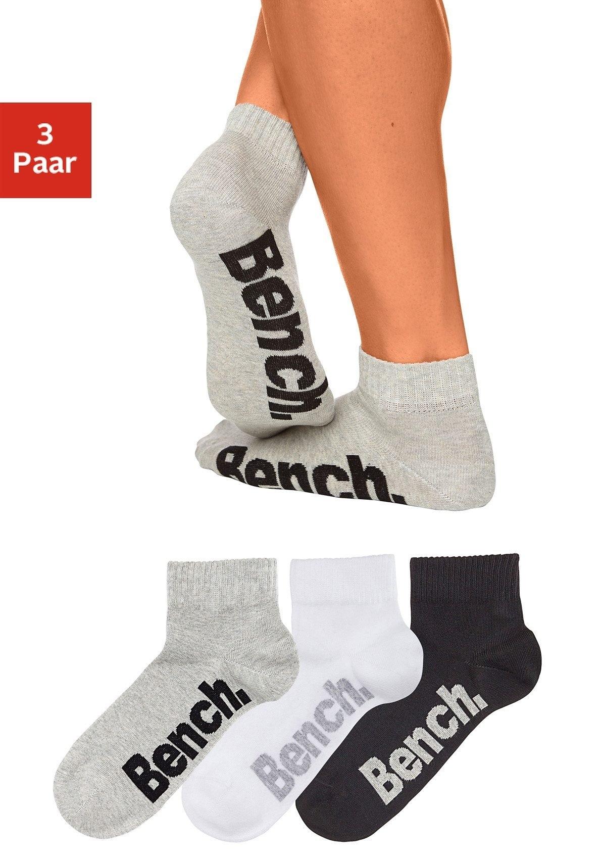 Bench. korte sokken met comfortabele ribboorden (3 paar) online kopen op lascana.nl