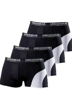 authentic underwear le jogger boxershort (set van 4), met contrastkleurige inzet zwart