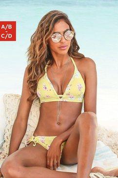 sunseeker triangel-bikinitop ditsy met trendy print geel