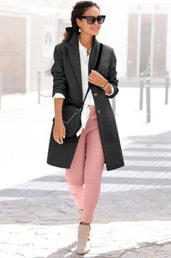 lascana lange jas klassiek design zwart