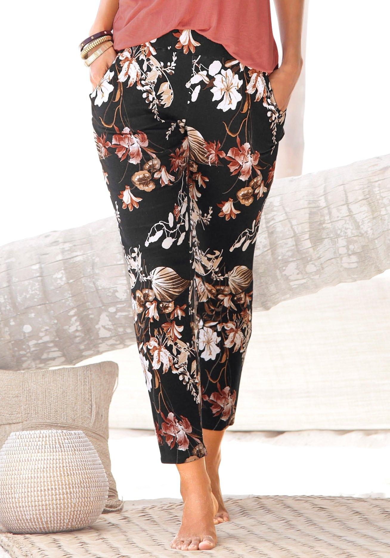 Lascana jerseybroek met bloemenprint bij Lascana online kopen